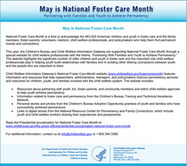 Foster care month 2010 cv