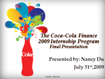 Coke presentation cv