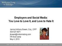 Employers and social media cover cv