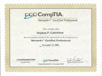 Network certificate cv