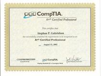 A certificate cv