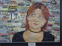 Torn paper portrait cv