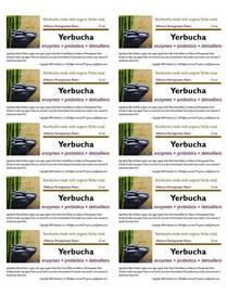 Yerbucha label 7.30 cv