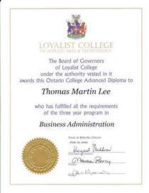 Bus admin adv diploma cv