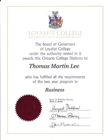 Business administration diploma cv