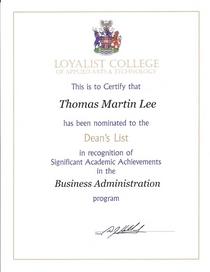 3rd year dean s list cv