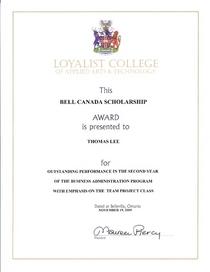 Bell canada award cv