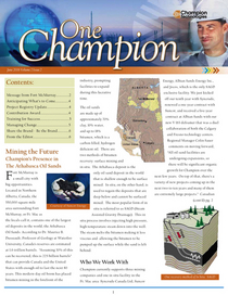 One champion june 2006 cv