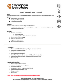 Gmt communication proposal cv
