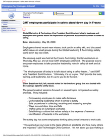 Gmt employees participate in safety stand down day in fresno cv