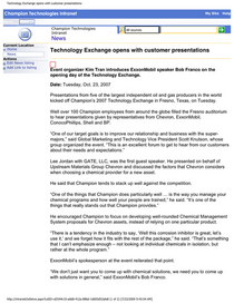 Technology exchange opens with customer presentations cv