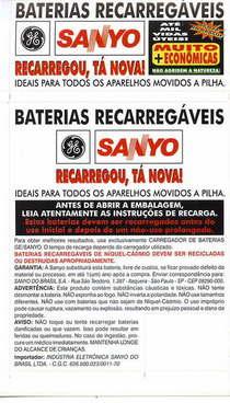 Sanyo pilhas recarreg%c3%a1veis cv