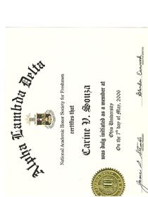 Certificate1 cv