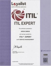 Itil expert certificate2 cv