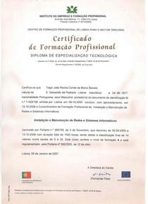 Certificado cv