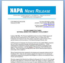 Napa press release cv