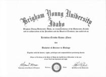 Biology diploma cv