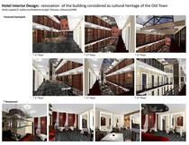 Hotel interior design  renovation of the building considered as cultural heritage of the old town 2008 cv