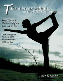 Beach yoga poster cv