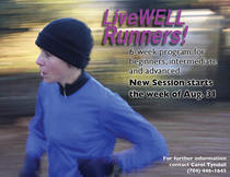 Livewell runners poster cv