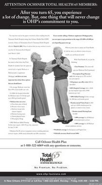 Ochsner total health 65 print ad cv