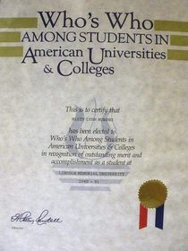 Who s who among american universities colleges cv