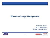 Effective change management cv