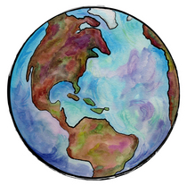 Earth watercolor cv