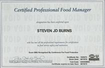 Steve burns certificate cv