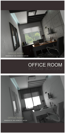 Office room perspective cv