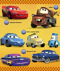 Land disney cars yellow cv