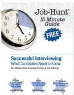 Job hunt interviewing guide cv