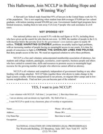 Masquerade leaflet back 1 cv
