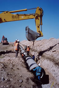 Pipe laying image cv