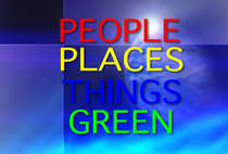 People places things green cv