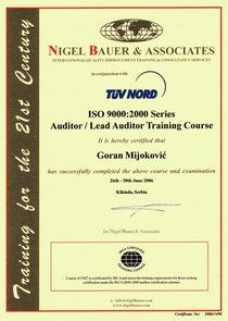 Irca   certificate cv