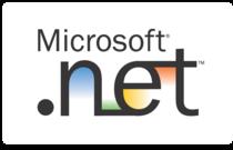 Microsoft .net logo white cv