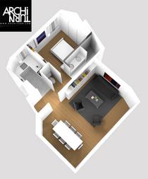 Salle de bain design 3d architurn cv