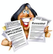 Resume lady cartoon1 cv