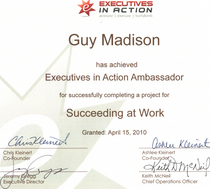 Executives in action award cv