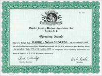 Worked 100 members award cv