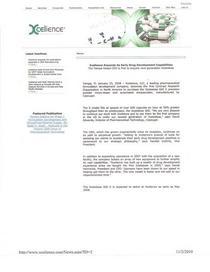 Xcelience press release cv