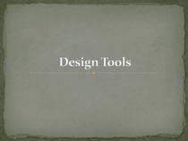 Design tools page 1 cv