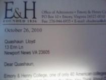 College correspondenc cv