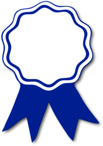 Award ribbon blue t cv
