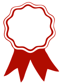 Award ribbon red cv