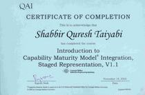 Cmmi certificate cv