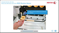 Xerox ros shutter motor xl cv