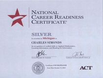 National career readiness certificate cv