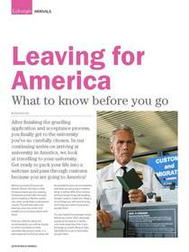 Leaving for america page 1 cv